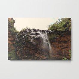 Wentworth Falls Waterfall Metal Print
