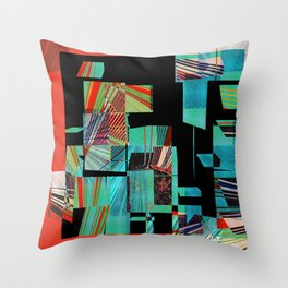 Segmented Changes in Time Throw Pillow