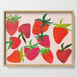 Strawberry Harvest Serving Tray