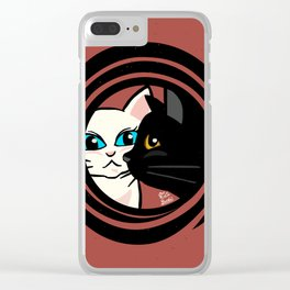 Cool cats Clear iPhone Case