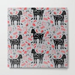 Goat Garden Metal Print