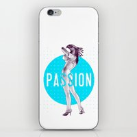 passion iPhone & iPod Skins featuring Passion by victor calahan