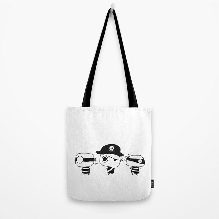 Three Pirates, Black Tote Bag