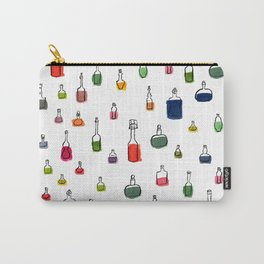 Coloured bottles pattern Carry-All Pouch