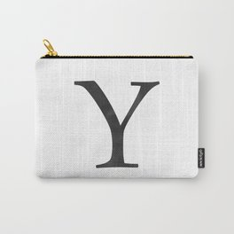 Letter Y Initial Monogram Black and White Carry-All Pouch