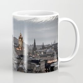 Edinburgh Princes St and Castle view from Calton Hill Coffee Mug