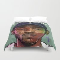 kendrick lamar Duvet Covers featuring K Dot by Sampson the Artist