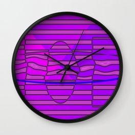Distorted purple Wall Clock