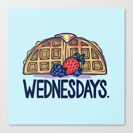 Waffle Wednesdays Canvas Print