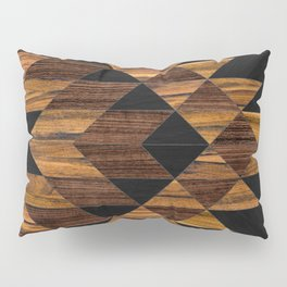 Urban Tribal Pattern 11 - Aztec - Wood Pillow Sham