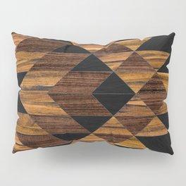 Urban Tribal Pattern 11 - Aztec - Wood Pillow Sham