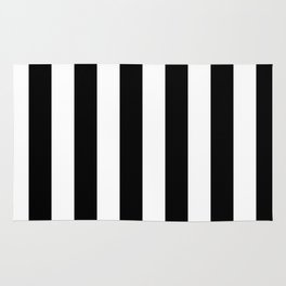 Black & White Vertical Stripes - Mix & Match with Simplicity of Life Rug