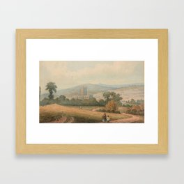 English School (early 19th century) A view of Bath Abbey and the city Framed Art Print