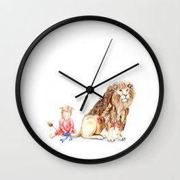 Girl with Her Lion Wall Clock