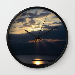 Sunrise over the Dead Sea Wall Clock