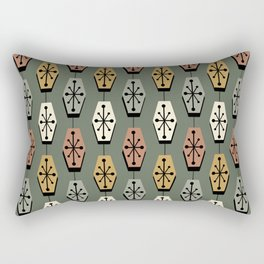 Mid Century Modern Hexagons Avocado Green Rectangular Pillow