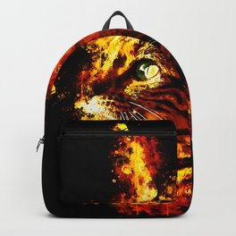 bengal cat yearns for freedom splatter watercolor Backpack