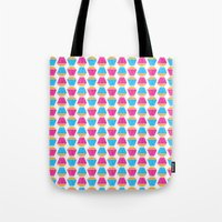 cupcakes Tote Bags featuring Cupcakes by Apple Kaur