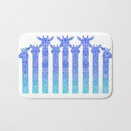 Giraffes – Blue Ombré Bath Mat