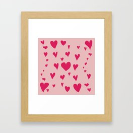 Imperfect Hearts - Pink/Pink Framed Art Print