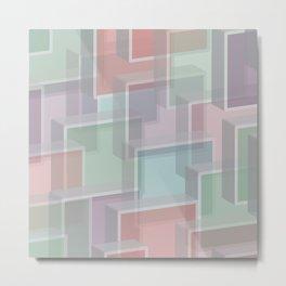 Lucite Blocks Pastel pink, green, blue, purple Metal Print