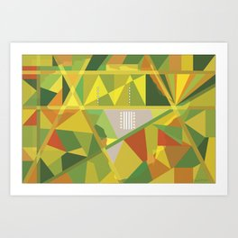 African Abstract Cubism Art Print