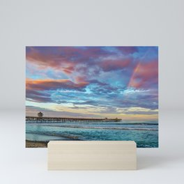 Rainbow at the End of the Pier Mini Art Print
