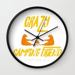 Crazy Camping Friend Camp Fire Bears Marshmellows Wall Clock