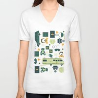 breaking bad V-neck T-shirts featuring Breaking Bad by Tracie Andrews