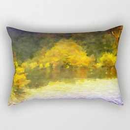 Colorful Lake Painting Rectangular Pillow