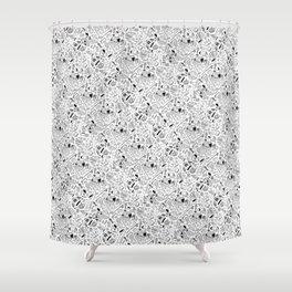 Seinfeld Pattern (White Background) Shower Curtain