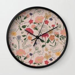 Vintage Botanicals Wall Clock