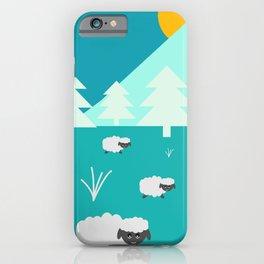 Grazing sheep iPhone Case