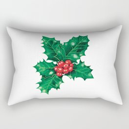 Holly leaves and berries Rectangular Pillow
