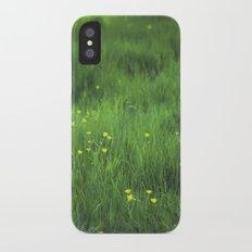 yellow flowers iPhone X Slim Case