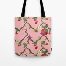 Cherries and Vine Tote Bag