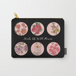 Hearts Like Wild Flowers Carry-All Pouch