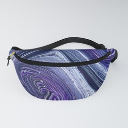 Purple Swirl Abstract Fanny Pack