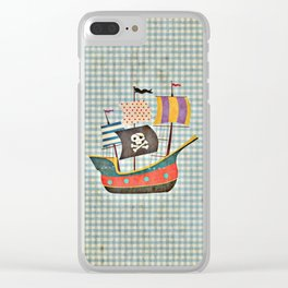 Vintage Pirates Clear iPhone Case