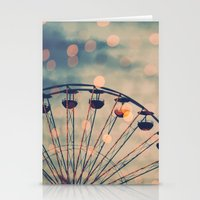 ferris wheel Stationery Cards featuring Ferris Wheel by Juste Pixx Photography