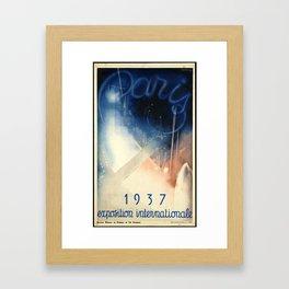 Paris 1937 01 - Vintage Poster Framed Art Print