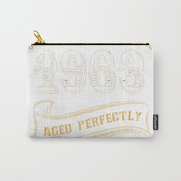 54th-Birthday-Gift-Gold-Vintage-1963-Aged-Perfectly Carry-All Pouch