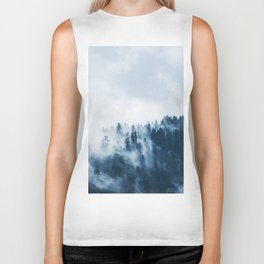 CLOUDS - WHITE - FOG - TREES - FOREST - LANDSCAPE - NATURE - TIMBER - WOODS - PHOTOGRAPHY Biker Tank