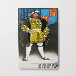 Hampton Court Vintage Travel Poster Metal Print