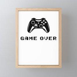 Game Over Framed Mini Art Print