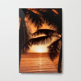 Perfect Palm Sunset (Color) Metal Print
