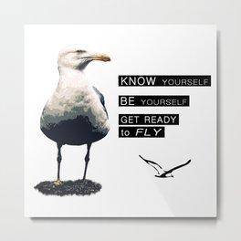 Seagull - Philosophy of LIFE Metal Print