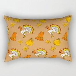 Happy thanksgiving day pattern Rectangular Pillow