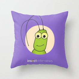 Kevin the Katydid Throw Pillow