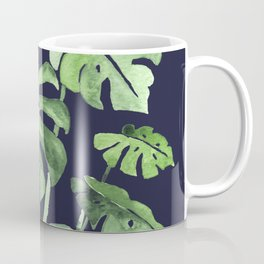 Delicate Monstera Blue #society6 Coffee Mug